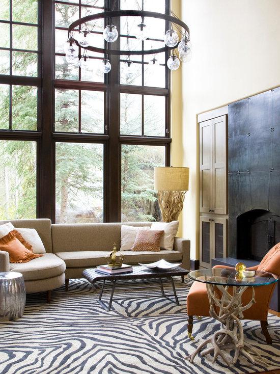Living Room Zebra Rug zebra rug living room design ideas, remodels & photos | houzz