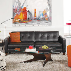 Contemporary Living Room by Plummers Furniture