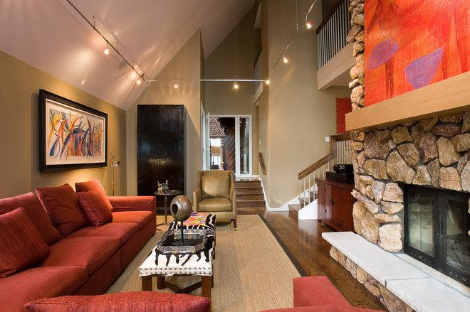 Contemporary Living Room by Nora Schneider Interior Design