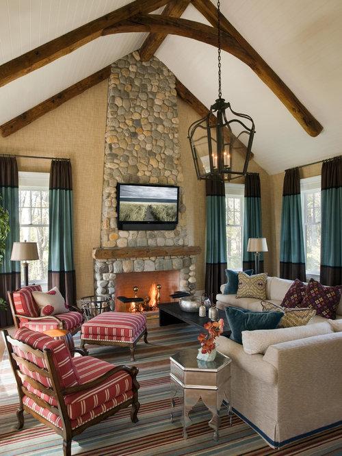 Tall Stone Fireplace Houzz