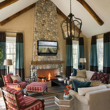 Traditional Living Room by Robin Pelissier Interior Design & Robin's Nest