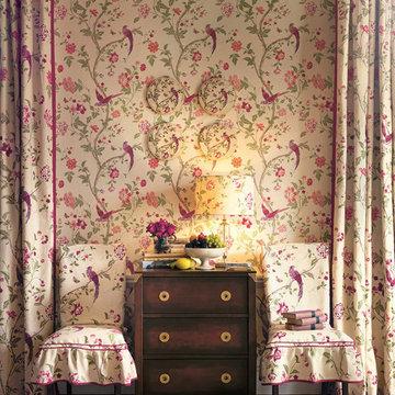 Summer Palace Cranberry Fabric