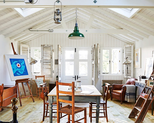country dining room ideas. Photo Of A Farmhouse Open Plan Living Room In Gloucestershire With White Walls And Medium Hardwood Country Dining Ideas O