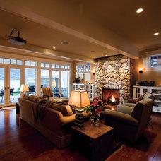 Traditional Living Room by EuroLine Windows Inc.