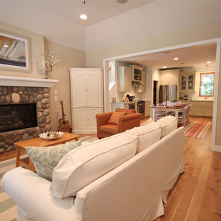Inspiration For A Beach Style Living Room Remodel In Grand Rapids
