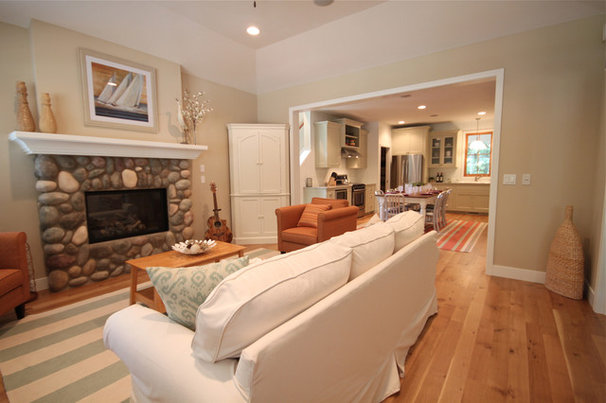 Beach Style Living Room by Cottage Home, Inc.