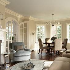 Traditional Living Room by David Heide Design Studio