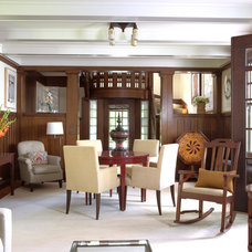 craftsman living room by David Heide Design Studio
