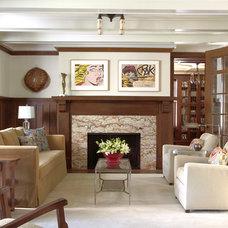 Craftsman Living Room by David Heide Design Studio