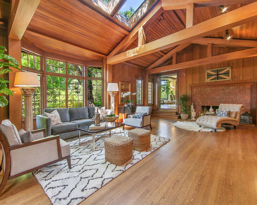 Inspiration For A Large Timeless Formal And Open Concept Medium Tone Wood Floor Brown