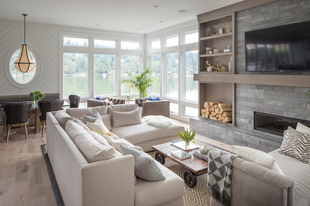 Transitional Living Room by Jenny Baines, Jennifer Baines Interiors