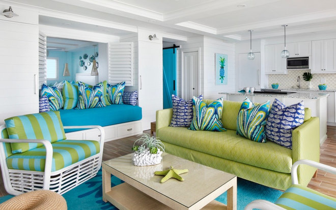Beach Style Living Room by Kala Interior Design