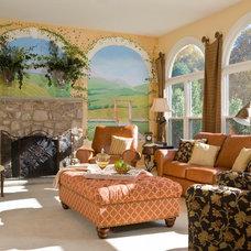 Mediterranean Living Room Sun Room
