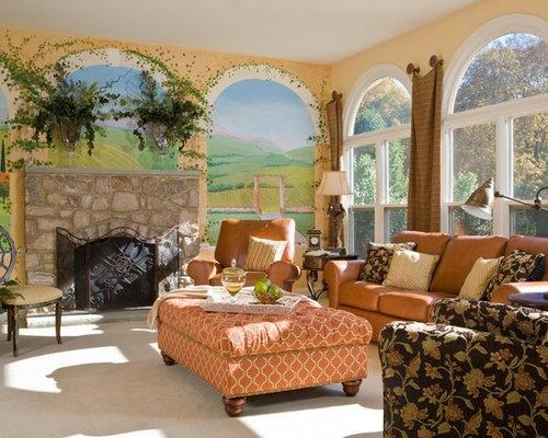Living Room Mural Houzz