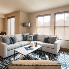 Transitional Living Room by The Picket Fence