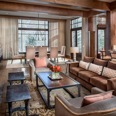 Rustic Living Room by Jennifer Hoey Interior Design