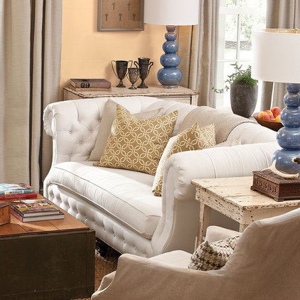 Traditional Living Room by Sunbrella