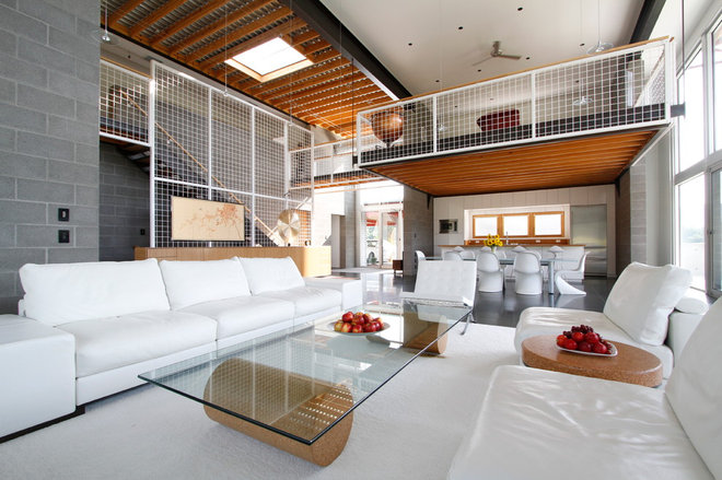 Industrial Living Room by Eugene Stoltzfus Architects