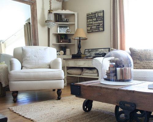 Shabby-Chic-Style Wohnzimmer mit Vinyl-Boden: Design-Ideen, Bilder ...