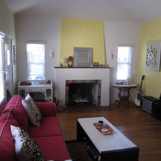 Traditional Living Room Sunny colors, modern furnishings in a vintage spanish style house