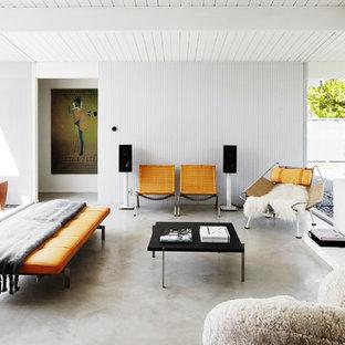 Mid Century Modern Concrete Floor