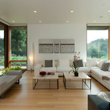 Modern living with bamboo floors