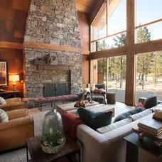 Contemporary Living Room by Scott Gilbride/Architect Inc.