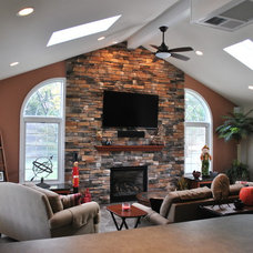 Traditional Living Room by Posavek Construction, Inc.