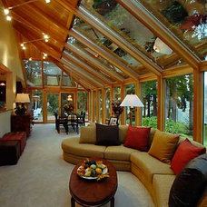 Contemporary Living Room by Roloff Construction, Inc