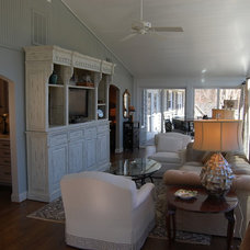 Traditional Living Room by Rose Hall Kitchen Galleria