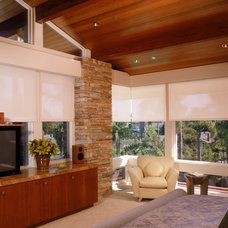 Contemporary Living Room by Solar Shading Systems