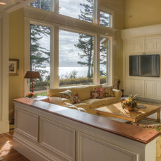 Traditional Living Room by Dan Nelson, Designs Northwest Architects