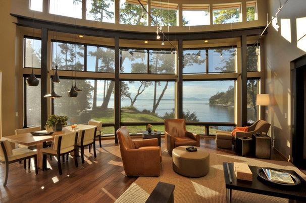 Contemporary Living Room by David Vandervort Architects