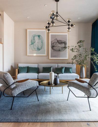 Contemporary Living Room by Lauren Nelson Design