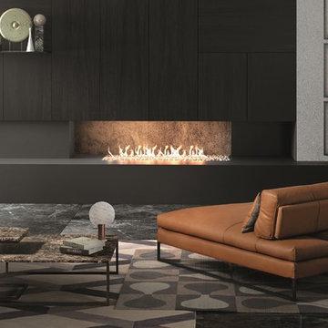 Sunset Leather Chaise Lounge by Gamma Arredamenti