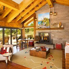 Rustic Living Room by Robert Marr Construction, Inc.