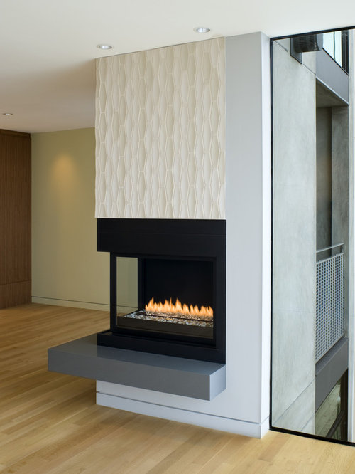 Modern Tile Fireplace Ideas Pictures Remodel And Decor