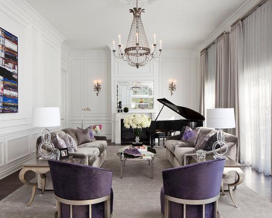 Purple Living Room Houzz