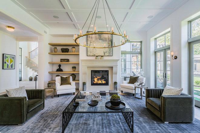 Farmhouse Living Room by Hoke Ley