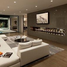 Contemporary Living Room by McClean Design