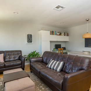 Inspiration for a mid-century modern living room remodel in San Luis Obispo