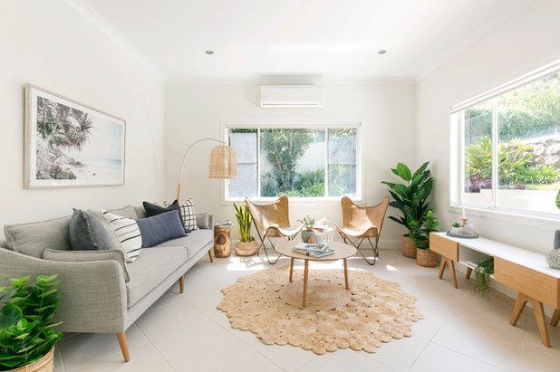Beach Style Living Room by Amazema Interiors
