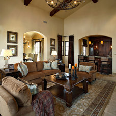 Mediterranean Living Room by Linda Seeger Interior Design