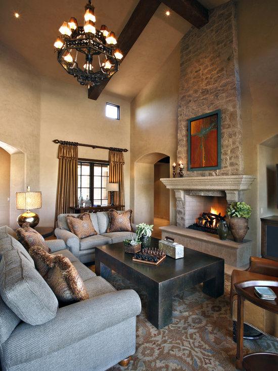 Modern Stone Fireplace Mantel Houzz