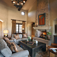 traditional living room by Linda Seeger Interior Design