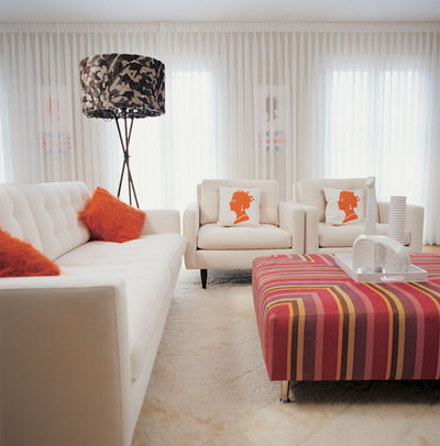 Contemporary Living Room by Supon Phornirunlit / Naked Decor