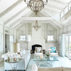 Beach Style Living Room by Donna Elle Seaside Living