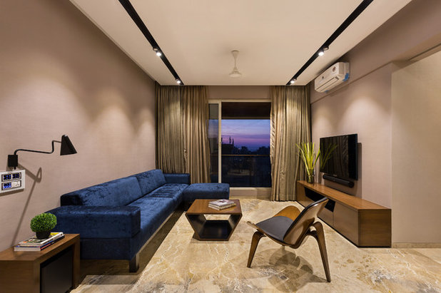 Contemporary Family Room by Design Office