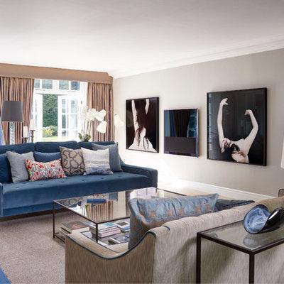 Trendy living room photo in London
