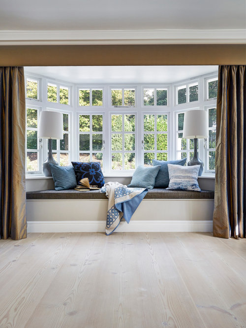 Living Room   Contemporary Light Wood Floor Living Room Idea In London